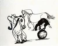 zirkusszene by josef hegenbarth