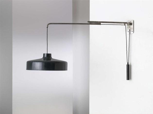lampada da parete estensibile mod 194n by gino sarfatti
