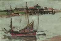 looking towards southwold from walberswick by francis henry newbery