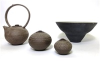collection of pottery (4 works) by sarah-jane selwood