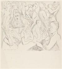 lebenskomödie (portfolio of 12 w/ title) by rudolf grossmann