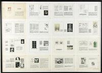 förlaga till utställningskatalog till duchamp-utställningen på galerie burén (sexton skisser till marcel duchamps utställningskatalog) (set of 16) by ulf linde