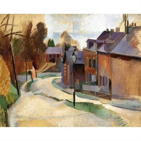 route de laon by robert delaunay