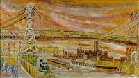the williamsburg bridge in new york city by joseph delaney