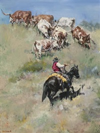 uphill longhorns by tom dorr
