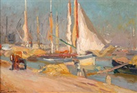 port de pêche by alfred victor fournier