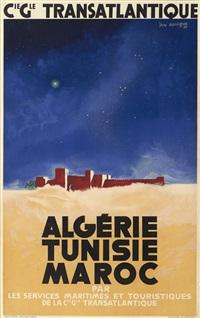 algérie, tunisie, maroc, cie générale transatlantique by jan auvigne