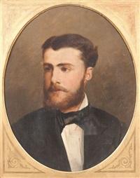 portrait eugène verboeckhoven by alexandre markelbach