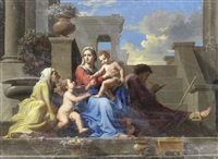 the madonna of the steps by nicolas poussin