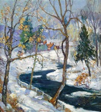 woodland brook by fern isabel coppedge