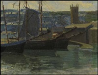 harbour scene by helen galloway mcnicoll