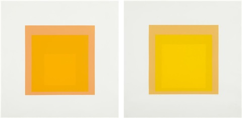 i s lxx a and i s lxx b 2 works by josef albers