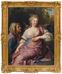 portrait of a lady as pomona by nicolas fouche