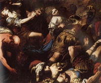 the rape of the sabine women by pietro paolo raggi