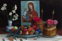 easter still life by tatiana nazarenko
