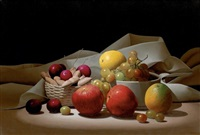 still life with apples by renato meziat