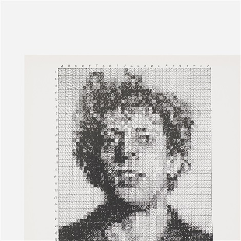 phil from the rubber stamp portfolio by chuck close