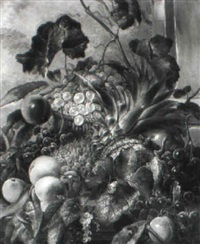 still life with fruit and butterflies by james charles ward