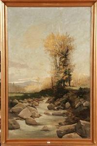 paysage au ruisseau en catalogne by francisco gimeno arasa