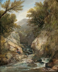 landschaft (+ another; 2 works) by william bath