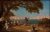 view of the bosphorus by antoine ignace melling