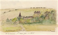 paysage a hebecourt by camille pissarro