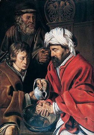 pontius pilate washing his hands by jan wouters