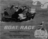 boat race, saturday 26th march 2.20 pm by norman george cayford