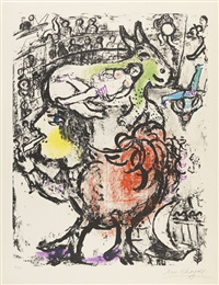 circus pirouette by marc chagall