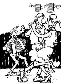 le bal (illustration pour la française des jeux) by margerin