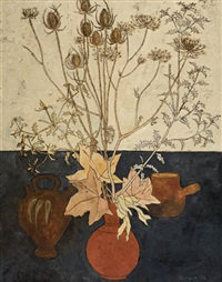 still life with thistles by fred jessup