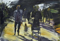 untitled (figures walking) by euan macleod