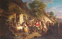 the village feast by franciscus melzer