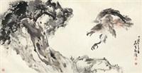 松鹰 镜片 纸本 by huang leisheng