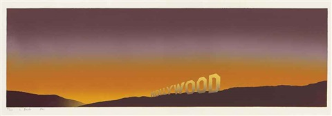 hollywood by ed ruscha