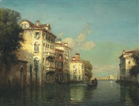 a venetian scene by noel georges bouvard