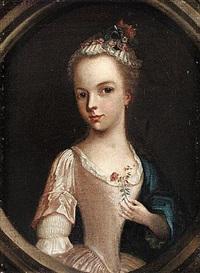 portrait of a boy holding a finch by willem verelst