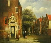 village street by johannes frederik hulk the elder