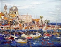 le port de saint-raphaël by jean sardi