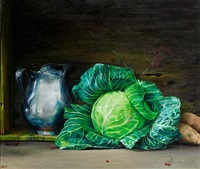 still life with cabbage by abed alem