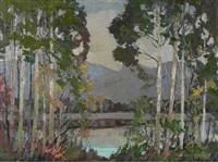 untitled - mountain lake by john byrne