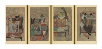 scholar's accoutrements (chaekgori) (4 works0 by anonymous-korean (20)