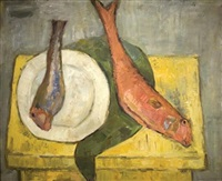 still life with two fish by ori reisman