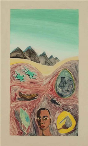 untitled monotype 34 by francesco clemente