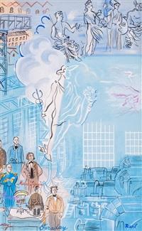 la fee electricite (i-v) (5 works) by raoul dufy