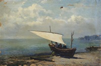 bateau sur la plage by ricardo ankermann y riera