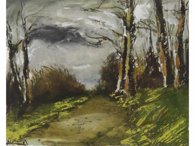 chemin en sous bois by maurice de vlaminck