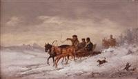 russische pferdeschlittenfahrt by joseph wolfram