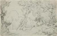 arbres et rochers by théodore rousseau