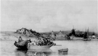 the ferry crossing before greenwich hospital by james fahey